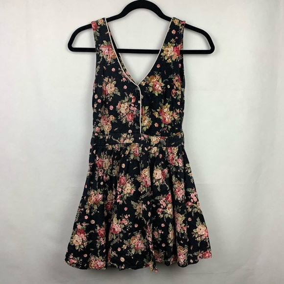 Lucca Couture Dresses & Skirts - Lucca Couture Black Floral Dress Romantic Medium